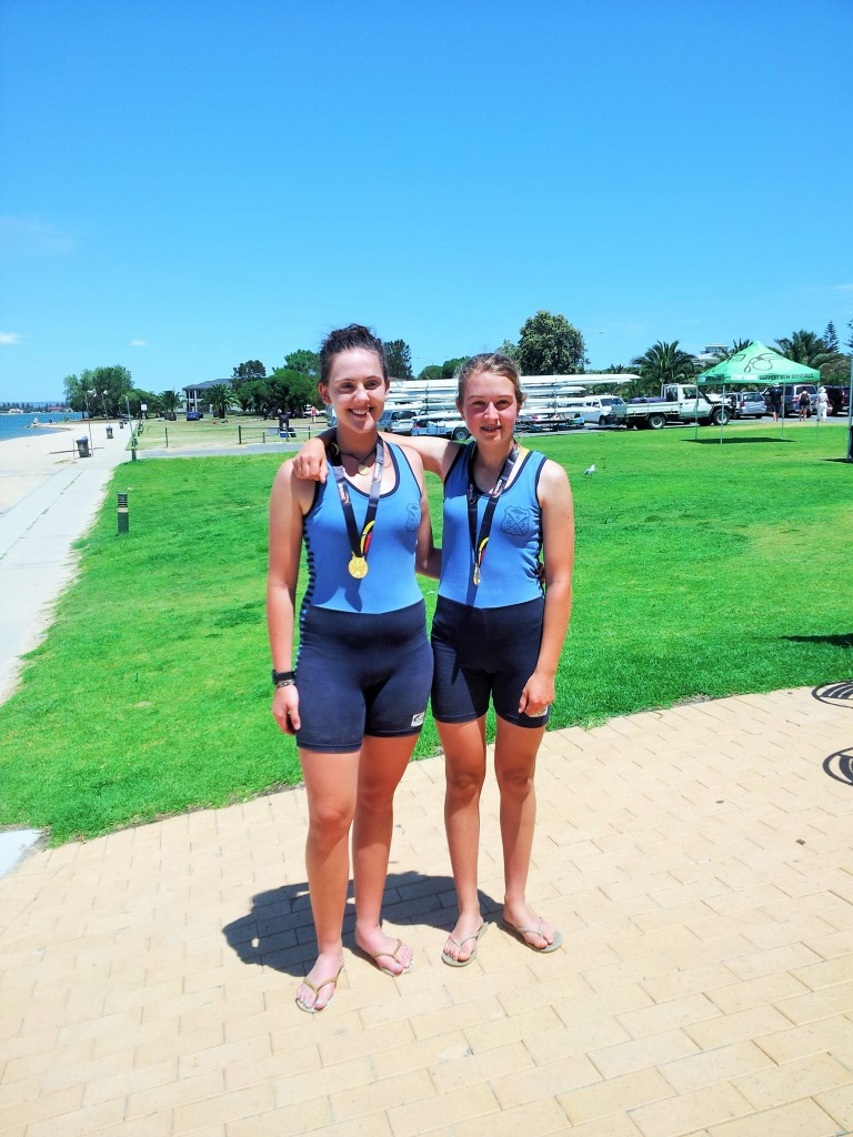 Under 17 Womans Double State Champions 2014 Tallulah Seidel and Celia Cowan