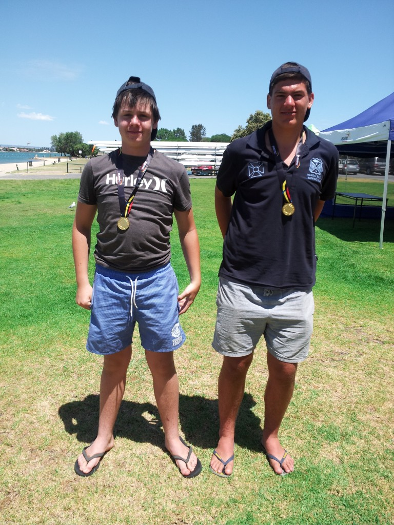 Charlie Seidel and Jayden Thomson. Under 17 Men's double State Champions 2014