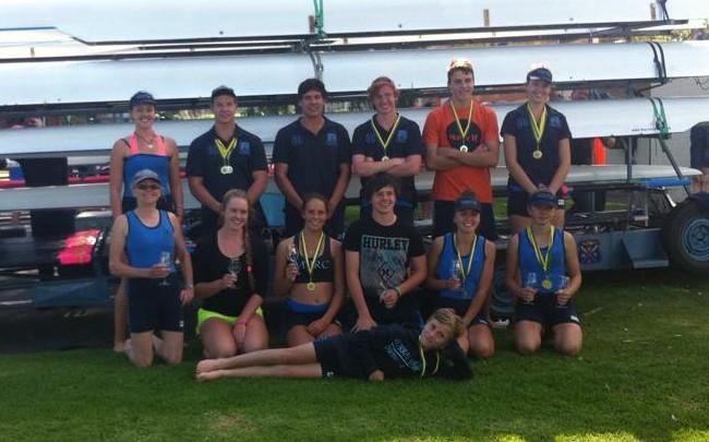 Murray Bridge's school rowers.