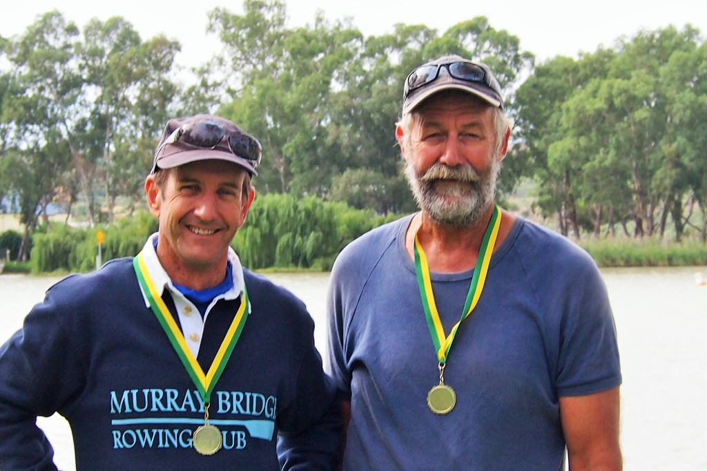 (left to right) Chris Cowan and Ben Porte won their double.